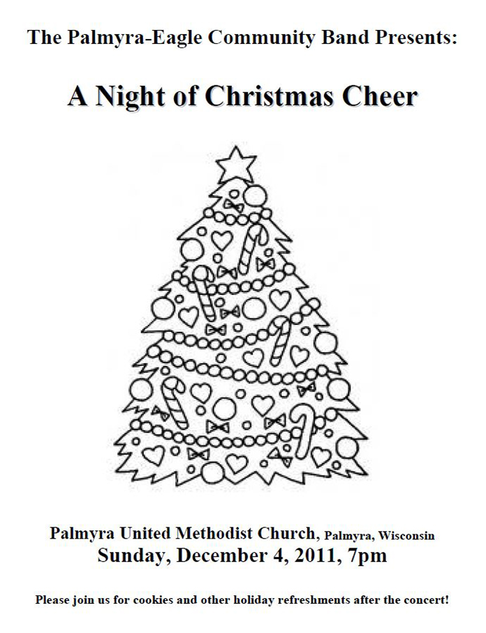 Program From Palmyra-Eagle Community Band Concert December 4, 2011