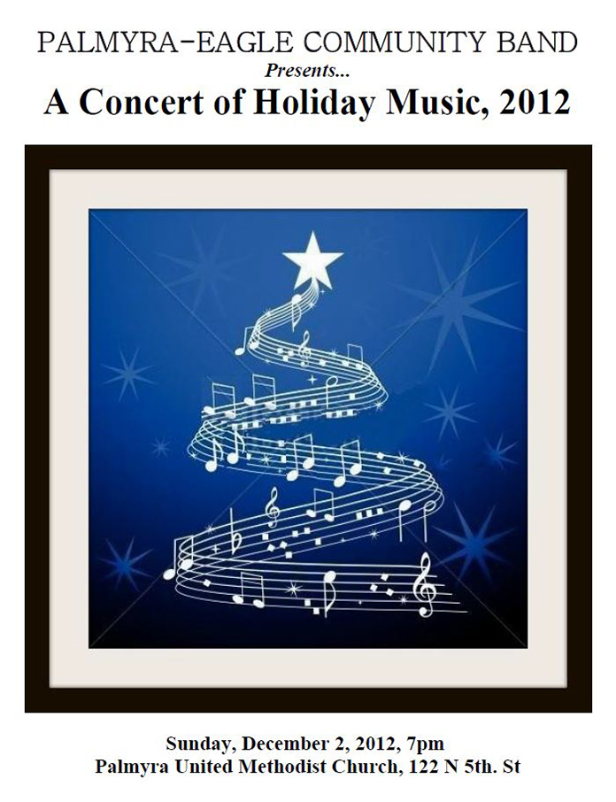 Program From Palmyra-Eagle Community Band Concert December 2, 2012