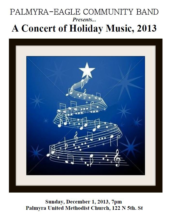Program From Palmyra-Eagle Community Band Concert December 1, 2013