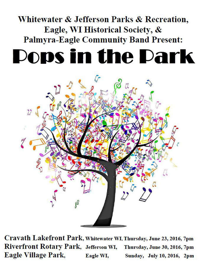 Program From Palmyra-Eagle Community Band Concert June 23, 2016