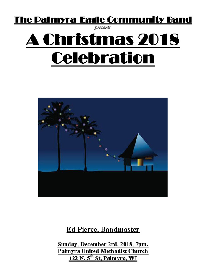 Program From Palmyra-Eagle Community Band Concert December 2, 2018