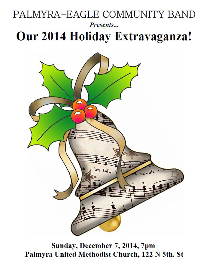 Program From Palmyra-Eagle Community Band Concert December 7, 2014
